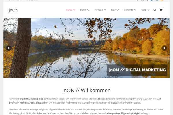 Website von jnON (jnon.de)