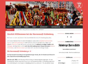 Website der Narrenzunft Schömberg (nz-schoemberg.de) von jnon.de