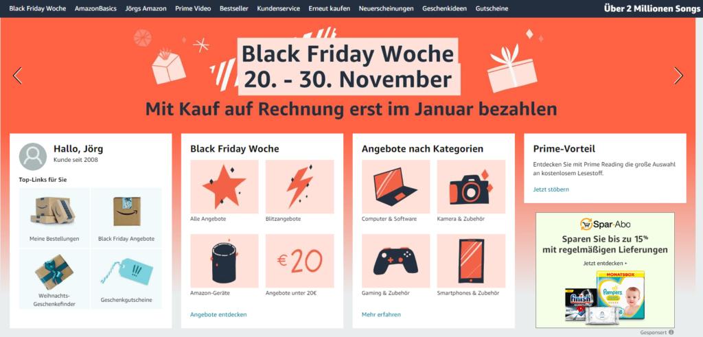 Amazon Black Friday Week 2020