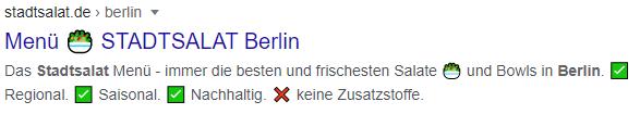 Auffällige Emojis Stadtsalat Berlin
