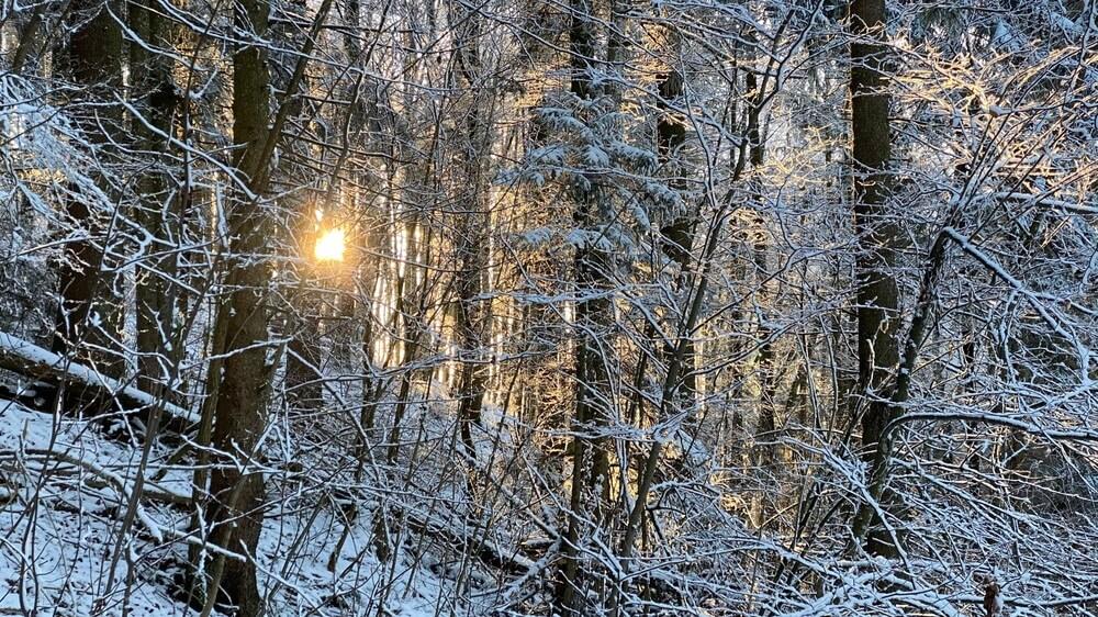Sonnenuntergang bei der Plettenberg-Wanderung