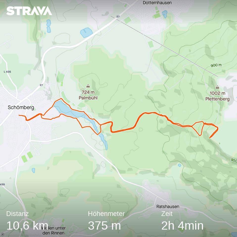 Plettenberg-Wanderung bei Strava