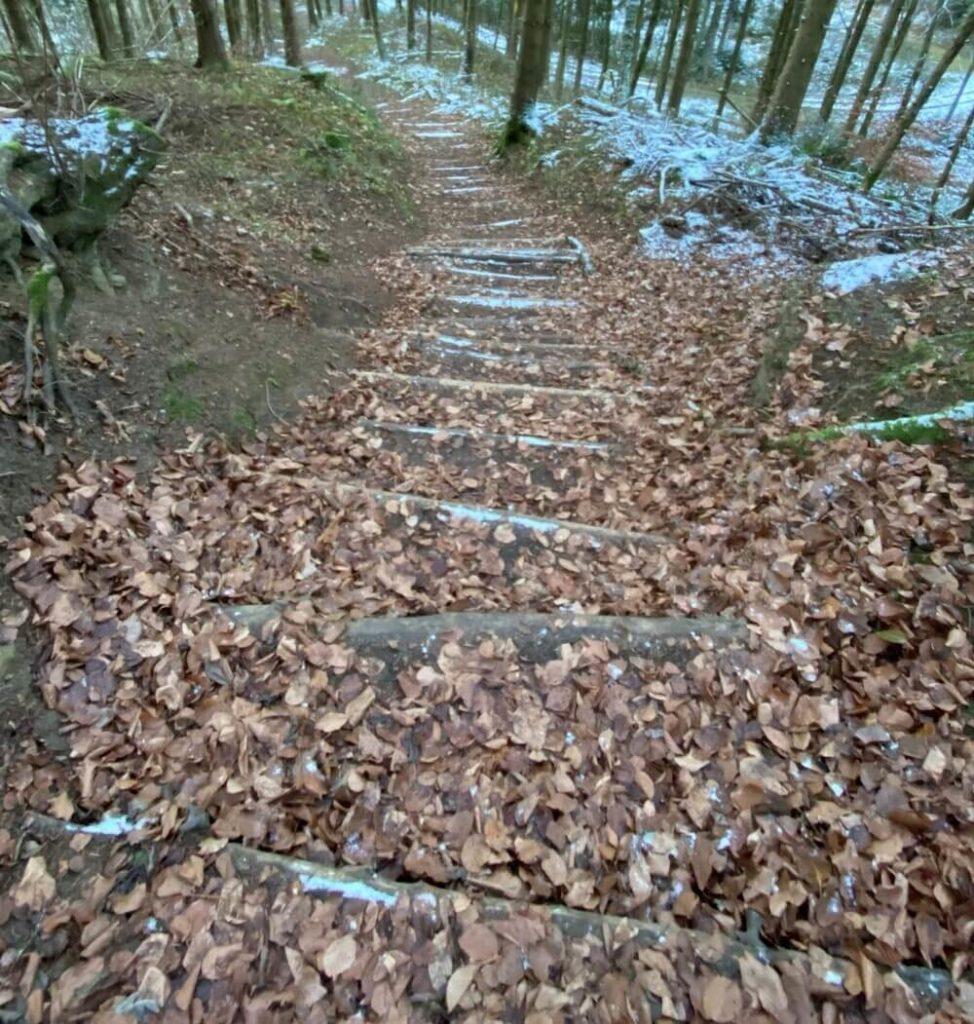 Treppe bei auf den Plettenberg