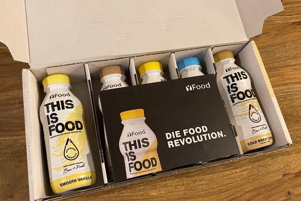 YFood-Test: Verpackung geöffnet